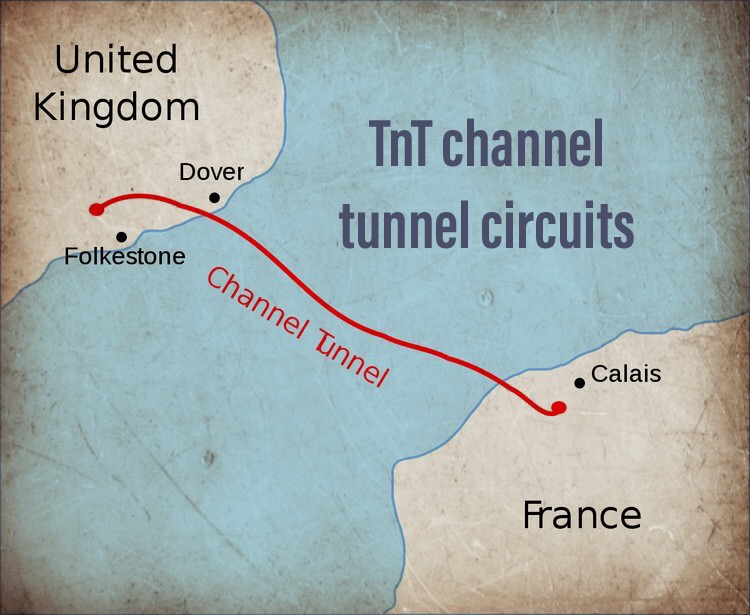 TnT training in the channel tunnel!