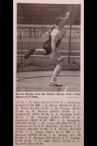 Kevin impressive winning junior throw
