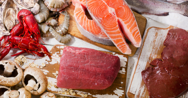 Fish and red meat are excellent sources of vitamin B12